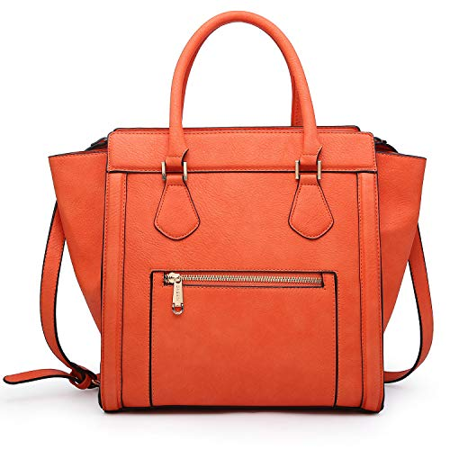 Dasein Women's Satchel Handbags and Top Handle Purses Shoulder Bags Vegan Leather Tote for Ladies ()