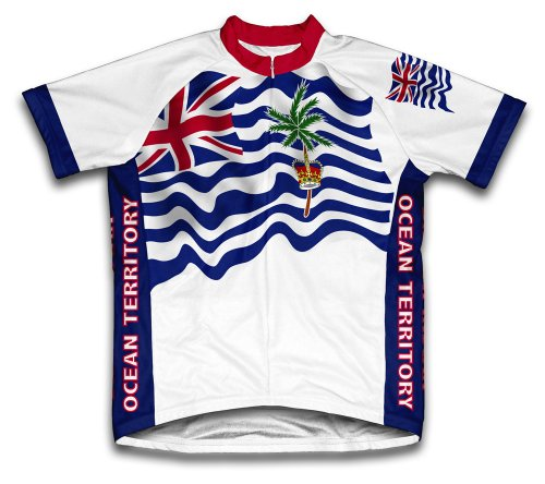 British Indian Ocean Territory Flag Short Sleeve Cycling Jersey for Men - Size 4XL