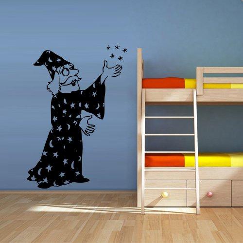 (Wall Decal Magician Illusionist Warlock Thaumaturge Game Room Desire Wand Kids Nursery Old Man M16)