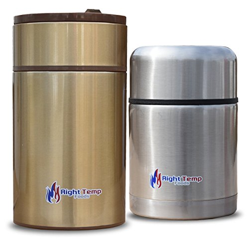 Right Temp Foods Stainless Steel Compact Bottle - 2 pack...