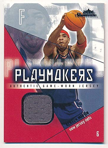 (BIGBOYD SPORTS CARDS Kenyon Martin 2004/05 Fleer Showcase PLAYMAKERS NETS RELIC Jersey SP #/300 F1)