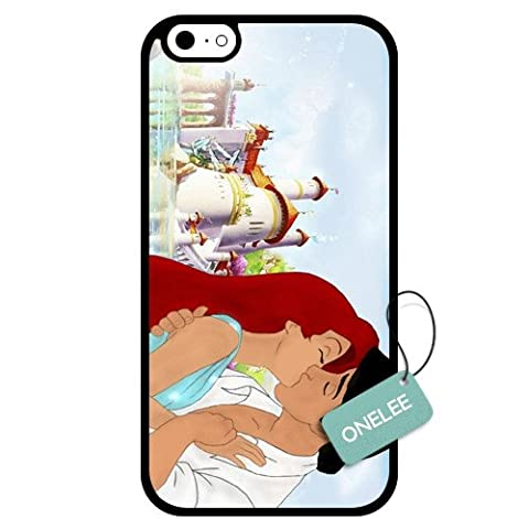 Onelee - Customized Disney Princess The Little Mermaid TPU Case Cover for Apple iPhone 6 - Black 07 (Disney Cell Phone Cases Iphone 5c)