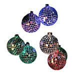 Kurt Adler 10-Light Color Changing LED Mirrored Ball Set
