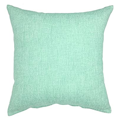 YOUR SMILE Solid Color Decorative Cotton Linen Throw Pillow Case Cushion Cover Pillowcase for Couch Sofa Bed,18 X 18 inches