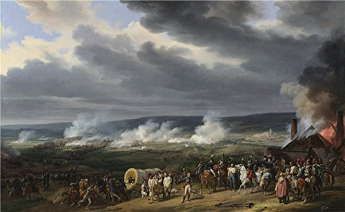 - Oil Painting 'Emile-Jean-Horace Vernet - The Battle Of Jemappes,1821', 8 x 13 inch / 20 x 33 cm , on High Definition HD canvas prints is for Gifts And Game Room, Hallway And Home Theater Decoration