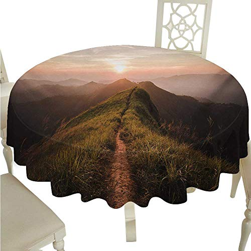 cordiall Adventure Fabric Dust-Proof Table Cover Photograph of Road on a Cliff Leading to The Sun Trekking Course Nature Image Indoor Outdoor Camping Picnic D36 Fern Green from cordiall