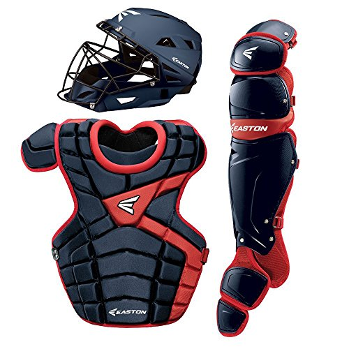Easton M10 Adult Custom Catchers Set, Navy/Red