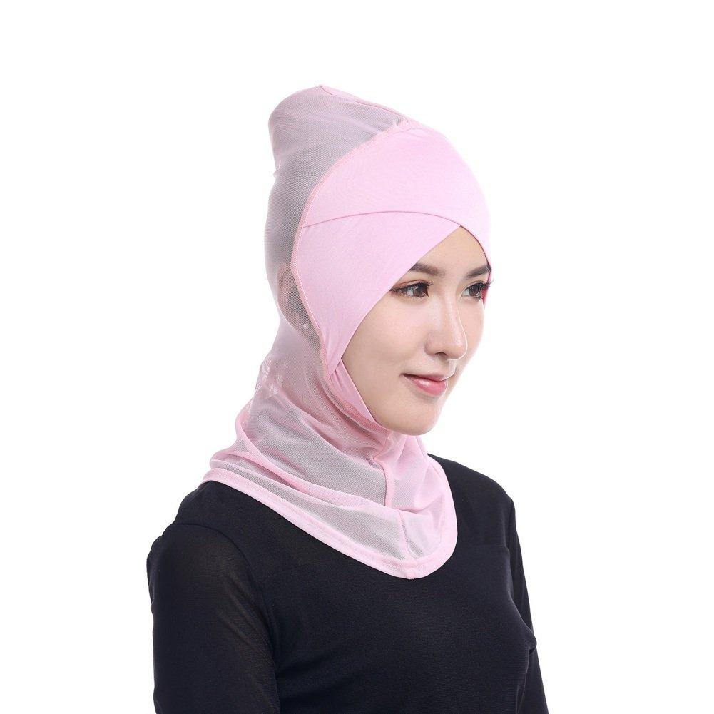 Zhengpin Womens Under Scarf Hat Cap Muslim Bone Ninja Hijab Islamic Neck Cover