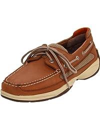 Sperry Lanyard 2-Eye Boat Shoe,Dark Tan/Orange,10 M US