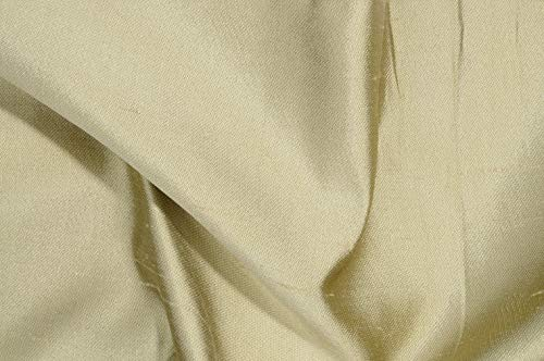 Light Gold Italian Shantung Silk Fabric