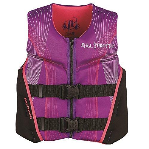 Full Throttle Youth Hinged Rapid-Dry Flex-Back Life Jacket Purple [並行輸入品]   B06XFVYB26