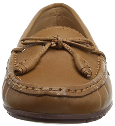 Women's Ballet Meriden Leather Sebago Tie Flat Tan 76Ucwq