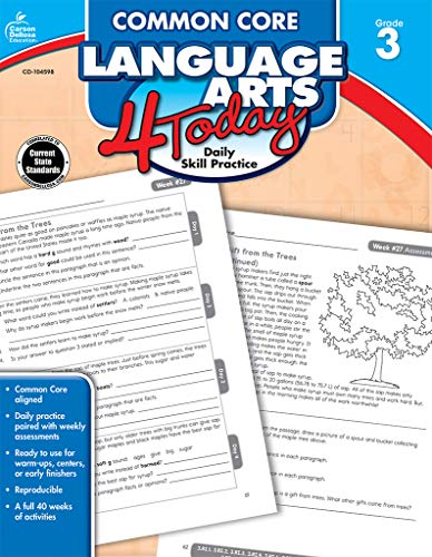 Common Core Language Arts 4 Today, Grade 3 (Common Core 4 Today) (Focus On Grammar 4 Workbook Answer Key)