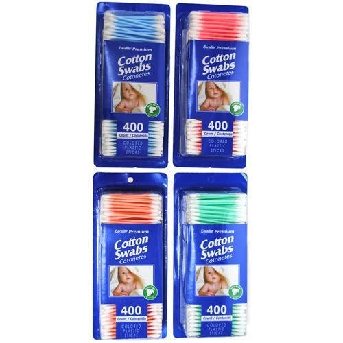 - 3 Pk. 400CT 100% Cotton Swabs (1200 Total Swabs)