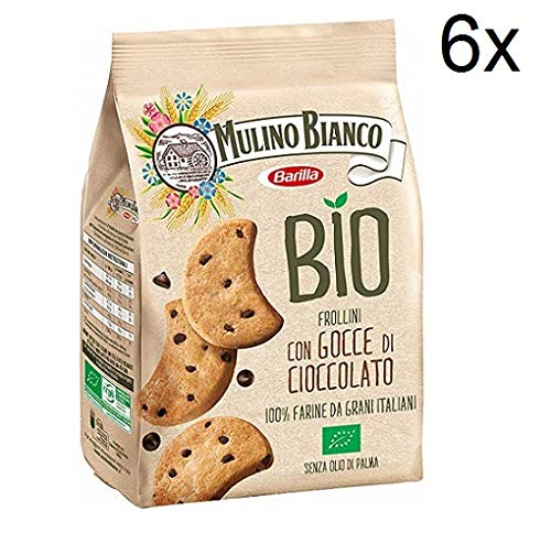 6X Mulino bianco Chocolate Biscuits with Chocolate Drops Organic Biscuits 260g