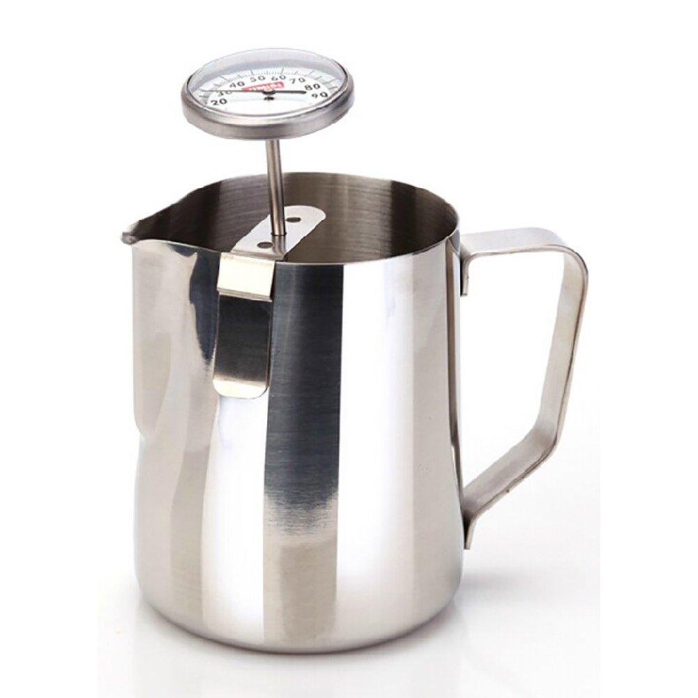Velidy lecture instantanée Thermomètre à lait en acier inoxydable avec sonde de 127mm en acier inoxydable et clip pour café BBQ Nourriture Cuisine Jauge de la viande