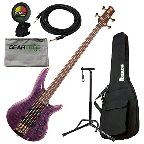 Ibanez SR2400APL SR Premium 4-String Bass Amethyst Purple Low Gloss w/Soft ()