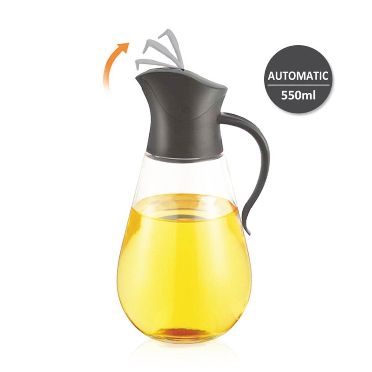 Olive Oil Dispenser,Cooking Container Bottle Glass Non-Drip Kitchen Oil Dispenser Bottle Vinegar Bottle Barbecue Marinade Dispenser Bottle With Non-Slip Handle for Kitchen