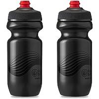 Polar Bottle Breakaway Wave Lightweight Bike Water Bottle 2-Pack - BPA-Free, Cycling & Sports Squeeze Bottle (Charcoal…