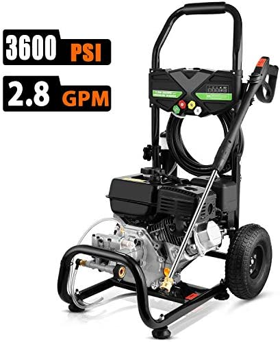 Cacat Gas Pressure Washer 3600PSI 212CC, 2.8GPM Gas Powered Power Washer-Slivery Sliver