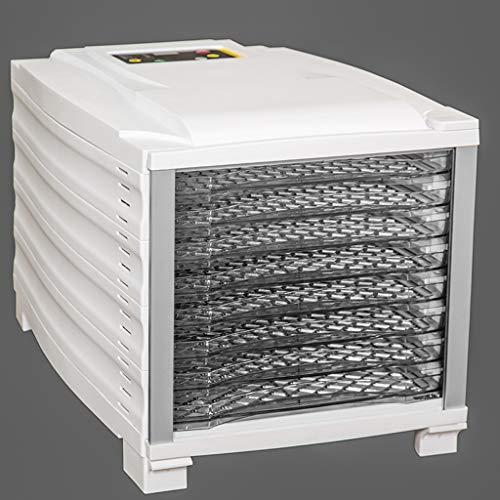 Secadora de alimentos, Deshidratador Digital De Alimentos, Termostato Ajustable A 95-167 ° F, Temporizador Programable, 8 Bandejas Apilables De Frutas Y ...
