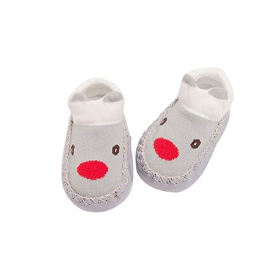 BESTOYARD Bebé calcetines algodón invierno calcetines animal antideslizantes para niños niña 11cm (Elk)