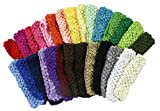 "Crochet Baby Headbands For Girls 1.5"" Hair Bands 28 Variety Pack for Infants and Toddlers"