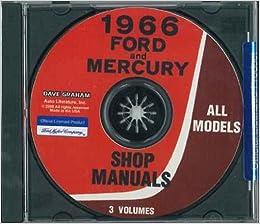 1966 Ford Shop Manual CD Galaxie LTD Fairlane Mustang Repair Service
