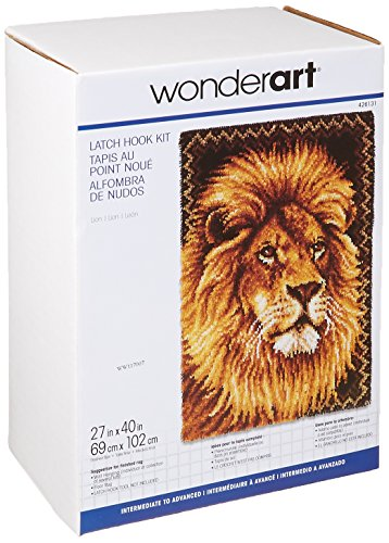 Wonderart Lion Latch Hook Kit, 27
