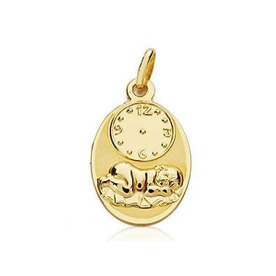 71091e6e74acc Médaille D or En forme de ovale avec l enfant en Pajas et montre ...