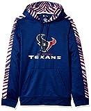 NFL Houston Texans Slub Hoodie Pullover with Zebra Sleeves , Team Color, XX-Large