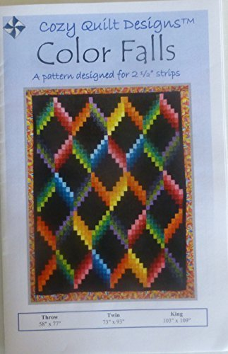 Pattern~Color Falls~2 1/2'' Strips Design by Cozy Quilt Design~Jelly Roll, by Cozy Quilt Designs