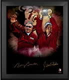 This framed 20'' x 24'' in focus photograph has been personally hand-signed by Jimbo Fisher and Bobby Bowden. It is officially licensed by the NCAA and comes with an individually numbered, tamper-evident hologram from Fanatics Authentic. To e...