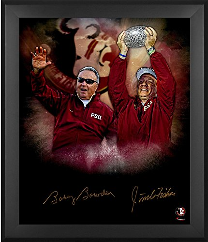"Jimbo Fisher & Bobby Bowden Florida State Seminoles (FSU) Framed Dual Autographed 20"" x 24"" In Focus Photograph - Fanatics Authentic Certified"
