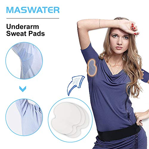 (Underarm Sweat Pads - MASWATER Armpit Underarm Shields Fight Hyperhidrosis for Men and Women[ 50 Pack /25 Pairs ] Disposable Dress Guards/Shields, Sweat Free Armpit Protection/White )