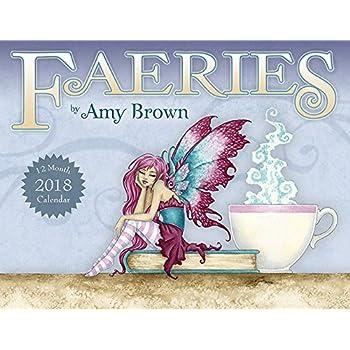 Amy Brown Faeries 12 Month Wall Calendar 2018