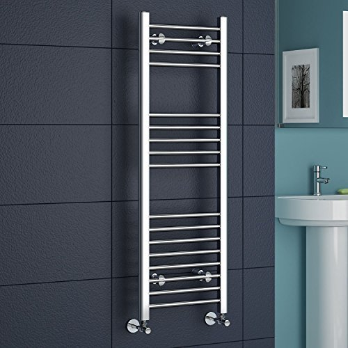 iBathUK | 1200 x 400 Straight Heated Towel Rail Chrome Bathroom Radiator - All Sizes by - Rail Towel Heated Straight