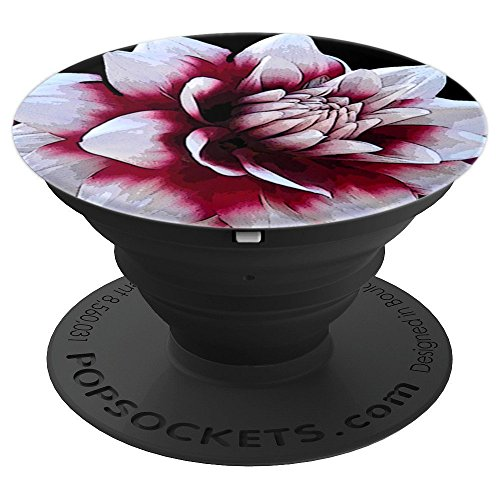 Black Dahlia Case (SmileteesPS Artistic Dahlia Flower Art PopSockets Grip - PopSockets Grip and Stand for Phones and Tablets)