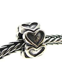 Dreambell 925 Sterling Silver Endless Love Heart Spacer Bead For European Charm Bracelets