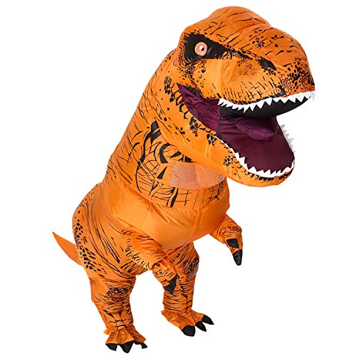 T-rex Adult Dinosaur Costume Inflatable Dinosaur Suit Halloween,Christmas Theme Party Dress -