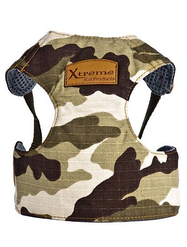 Comfort Harness Adjustable with an Ergonomic fit to Allow for Maximum Mobility for Dogs 6-10 lbs no Better Harness Available for Your Buddy Camouflage
