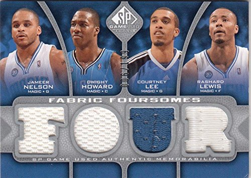 - 2009-10 Upper Deck SP Game Used Jameer Nelson Dwight Howard Courtney Lee Rashard Lewis #F4-LHNL NM Near Mint MEM 6/199