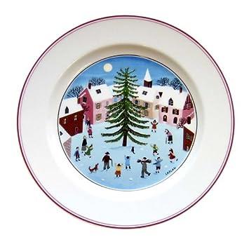 Amazon.com | VILLEROY & BOCH Naif Christmas Salad plate: Villeroy ...