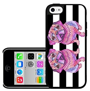 Pink Pug Hard Snap on Case (iPhone 5c)