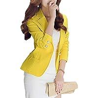 Mujer Casual Color Sólido Un Botón Trajes De Chaqueta Slim Fit Trabajo Blazer