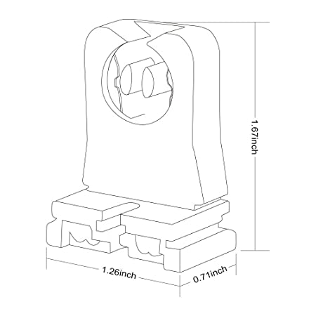 T12 Lamp Holder Tombstone