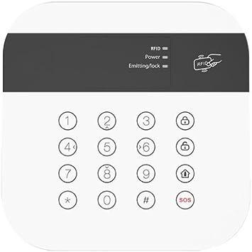 Safe2Home® Teclado para sistema de alarma inalámbrico Safe2Home SP110/SP210, sistema de alarma GSM, panel de control con lector RFID, teclado
