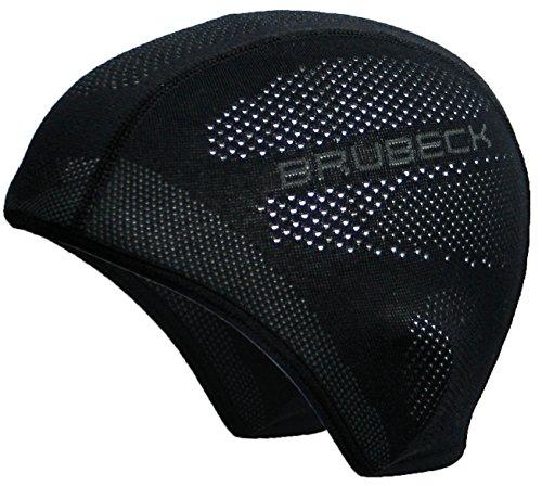 Brubeck® HM10020A Funktions-Mütze/Halbe Sturmhaube | Temperaturregulierend | Funktional | Atmungsaktiv | Motorrad | Ski | Laufen | Antibakteriell | Anti-allergisch