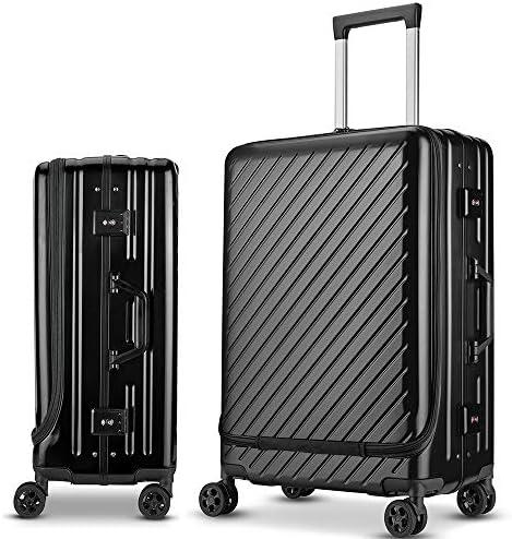 [해외]Langxj hj 여행 가방 캐리어 가방 이중 지퍼 식 용량 확장 알루미늄 합금 디자인 360 ° 캐스터 기내 반입 두껍게 한다 마모 TSA 자물쇠 장착 6022 / Langxj hj Suitcase Carry Bag Double Zipper Ed capacitive expansion Aluminum Alloy Design 36...