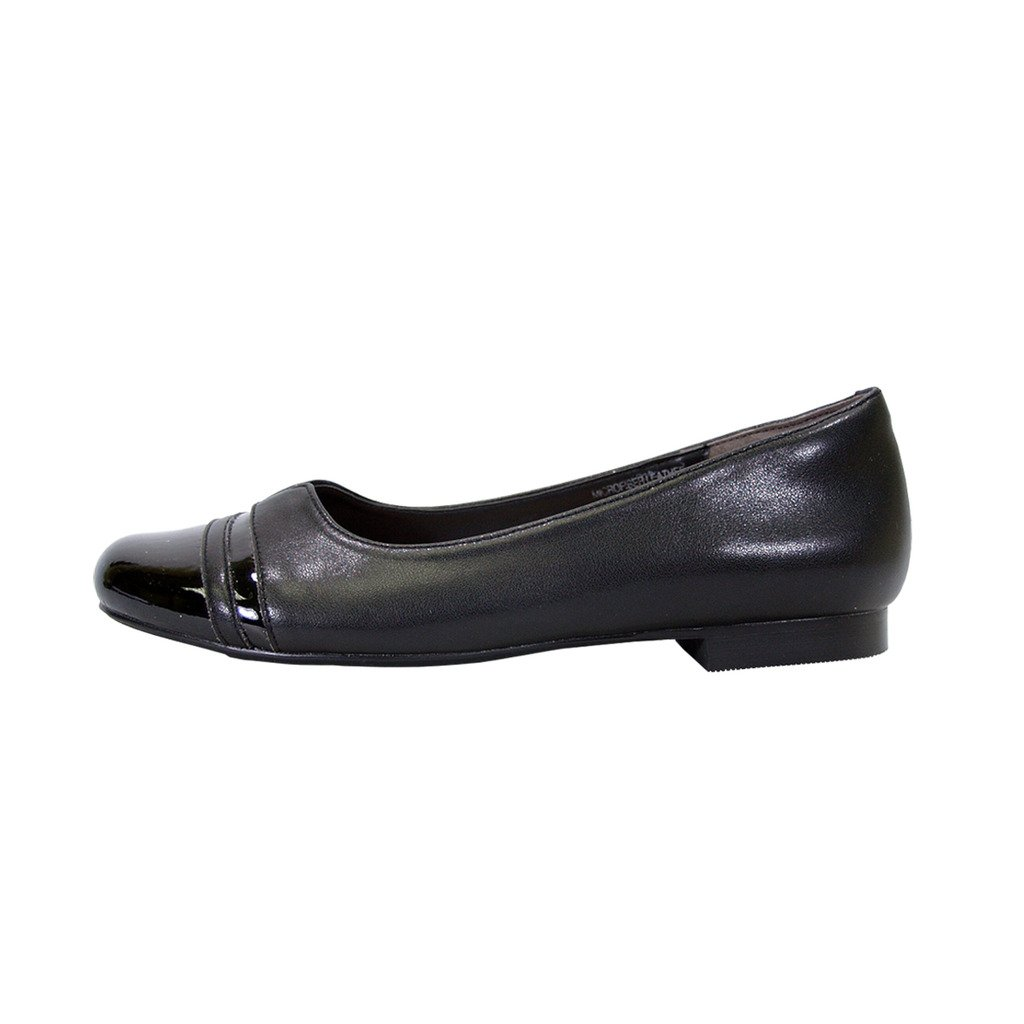 Peerage Marina Women Wide Width Round Toe Casual Dress Skimmer Flats (Size & Measurement Chart Available) B07BK7XF2P 6 E|Black